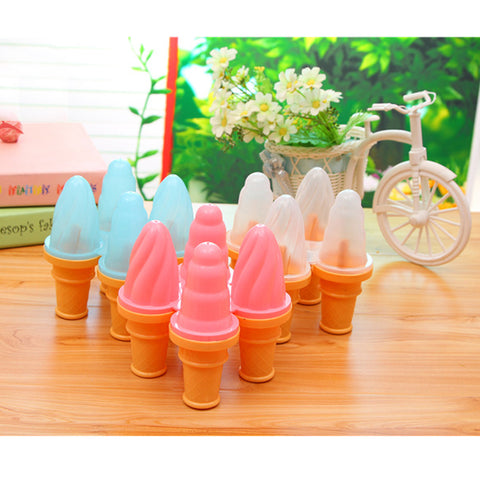 Image of 1 Set of 4 Cell Frozen Ice Cream Pop Mold DIY Popsicle Maker Lolly Mould Tray Kitchen Tool