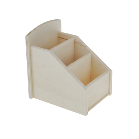 Unfinished Plain Wooden 3 Layers Tool Jewelry Box for Arts Crafts Home Décor