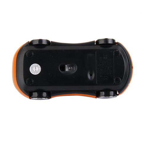 2.4G Wireless 3D Car LED Optical Gaming Mouse Mice USB Receiver for PC Laptop Orange