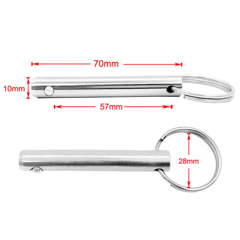 Image of 0.39'' x 2.75'' Boat Bimini Top/Cover/Canopy Stainless Steel Quick Release Pull Ring Pin