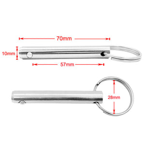 0.39'' x 2.75'' Boat Bimini Top/Cover/Canopy Stainless Steel Quick Release Pull Ring Pin