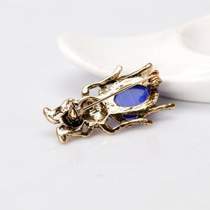1pc Animal Alloy Brooches Shirt Collar Badge Enamel Brooch Pin Clothes Decor