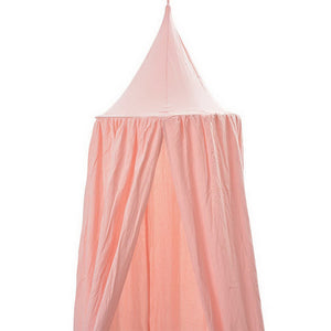 Mosquito Net Bed Canopy Dome Princess Cotton Cloth Tent Kids Room Decor Pink