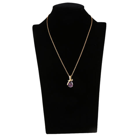 Image of Chic Crystal Diamond Tear Drop Pendant Necklace Wedding Bridal Charm Jewelry