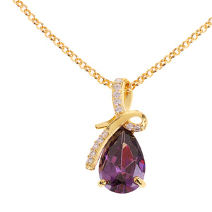 Chic Crystal Diamond Tear Drop Pendant Necklace Wedding Bridal Charm Jewelry