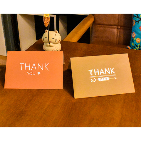 Image of 6 Sets Thank You Cards With Envelopes Greeting Invitation Cards Party Gift