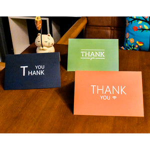 6 Sets Thank You Cards With Envelopes Greeting Invitation Cards Party Gift
