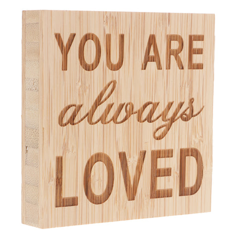 Image of YOU ARE Always LOVED Vintage Wooden Board Plaques Gift Sign Home Decoration