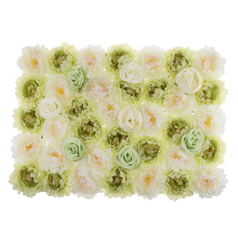 Image of Romantic Artificial Rose Flower Wall Panels Wedding Venue Background Decor