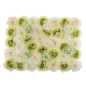 Romantic Artificial Rose Flower Wall Panels Wedding Venue Background Decor