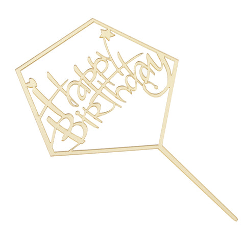 Image of Acrylic Happy Birthday Cake Topper Birthday Party Cake Baking Supplier