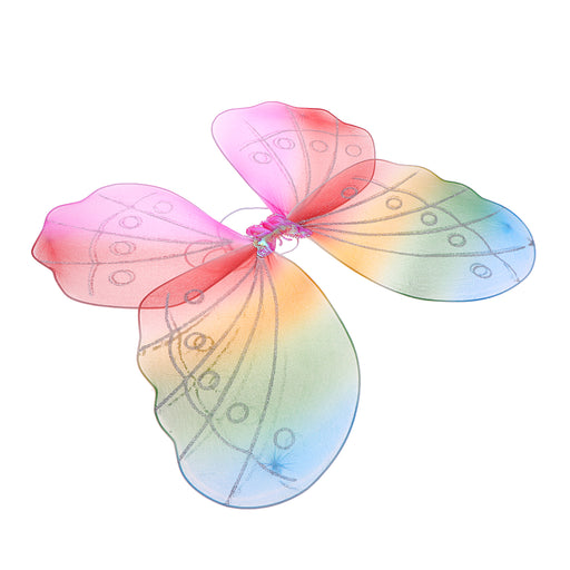 Girls Fairy Butterfly Wing Rainbow Children Birthday Party Fancy Dress Up