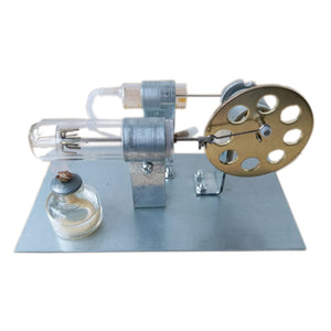 Hot Air Stirling Engine Motor Model Building Kits Power Generator Moter Science Experiment Toy Gift