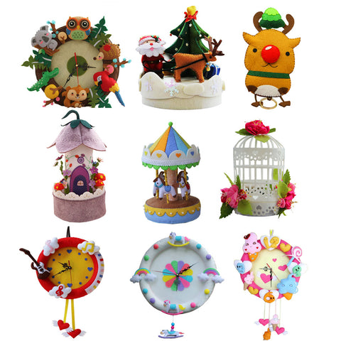Image of Non-woven Fabric Felt Applique Kit DIY Christmas Music Box Felting Crafts