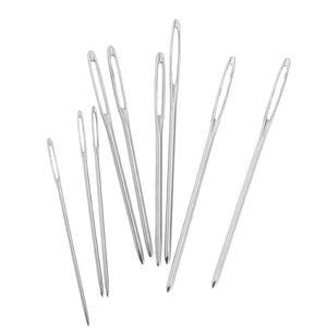 9 Pieces Large Eye Blunt Needles Yarn Knitting Sewing Needles with Clear Bottle