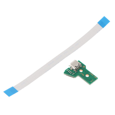 Image of USB Charging Port Socket Board with Flex Ribbon Cable for PS4 Controller JDS-055