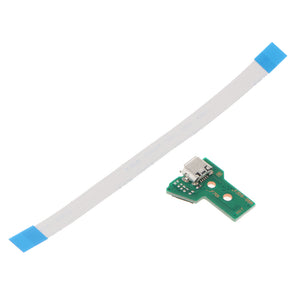 USB Charging Port Socket Board with Flex Ribbon Cable for PS4 Controller JDS-055