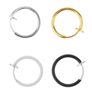 4 Pieces Non-Piercing Clip On Earrings Nose Alloy Ring Body Jewelry Hoop