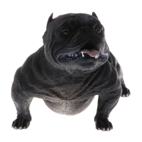 Image of Plastic Realistic Wildlife Animals American Bully Pitbull Dog Action Figure Toys Playset, Kids Toddler Nature Toys Home Decor Collectibles