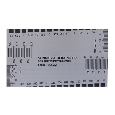 Image of Steel String Action Gauge Measuring Tool and 2pcs Fingerboard Fret Protector Guard Luthier Supply