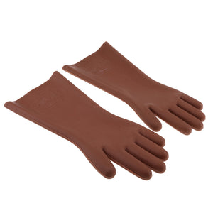 5KV Electrical Rubber Insulated Gloves Safety Work Gloves, 1 Pair, Free Size