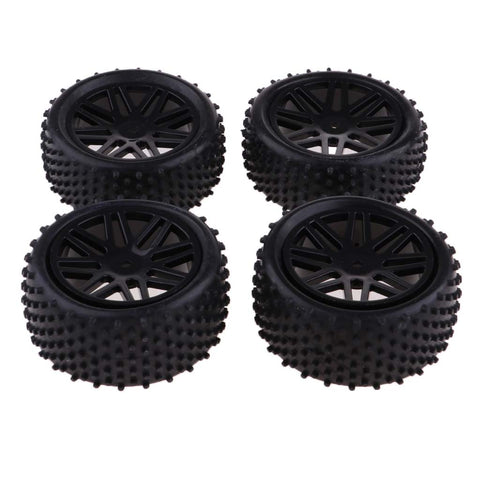 Image of Set/4Pcs 1/10 Wheels Tires for RC Racing Car HSP Redcat Traxxas HPI Axial
