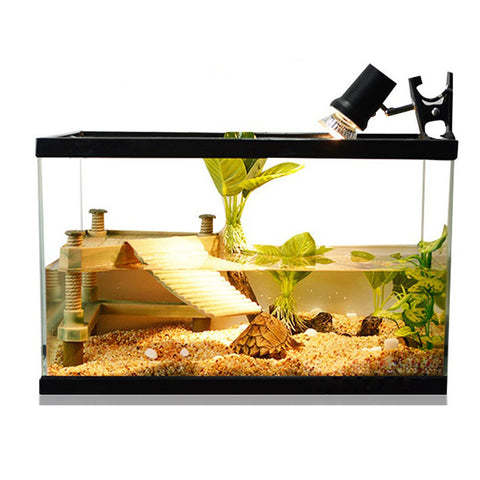 Clip-on Lamp Black Aquarium Light Fish Tank With Touch Sensor Switch EU Plug