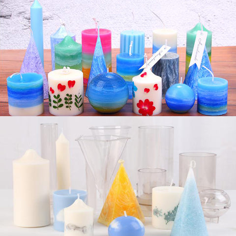 Image of Plastic Heart Shaped Candle Mold Soap Mold Tool DIY Candle Making 51x51x152mm