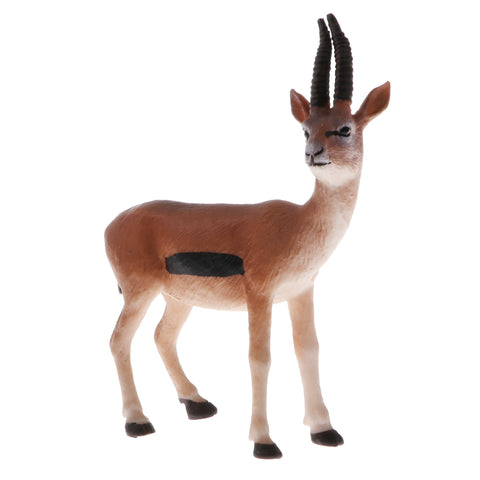 Image of Plastic Realistic Wildlife Jungle Forest Animals Antelope Action Figure Toys Playset, Kids Toddler Nature Toys Home Decor Collectibles