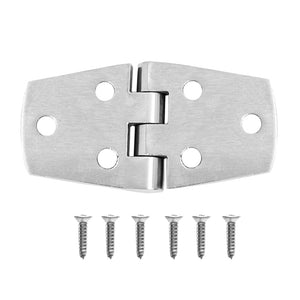 Marine Grade 316 Stainless Steel Boat Caravan Yacht Door Hatch Cabin Hinge Strap with Screws Hardware Accessories 76x38mm