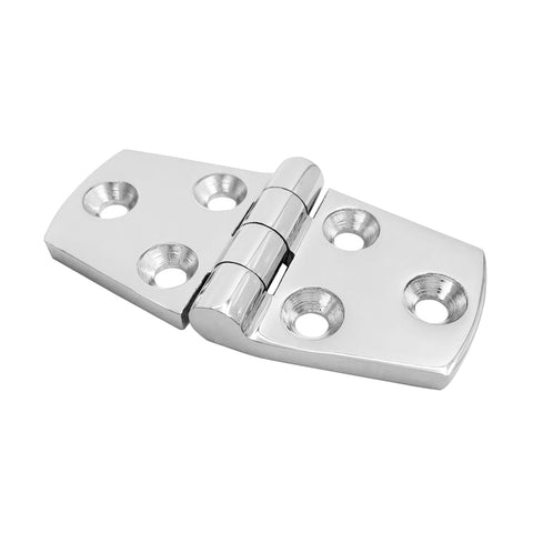 Image of Marine Grade 316 Stainless Steel Boat Caravan Yacht Door Hatch Cabin Hinge Strap with Screws Hardware Accessories 76x38mm