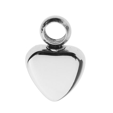Image of Stainless Steel Glossy Love Heart Urn Pendant Memorial Cremation Jewelry