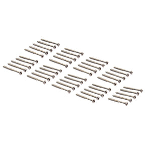50 Pieces Bass Guitar Humbucker Pickup Mounting Screws Nickel for PB JB P90 Pickup Parts