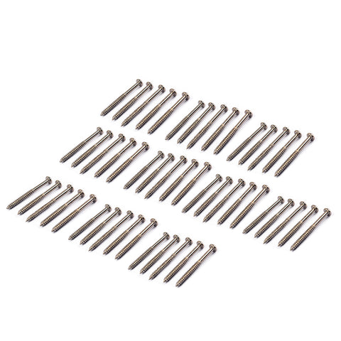 Image of 50 Pieces Bass Guitar Humbucker Pickup Mounting Screws Nickel for PB JB P90 Pickup Parts
