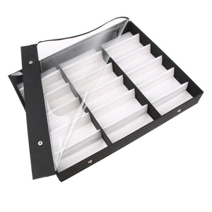 18 Slots Sunglasses Organizer Multiple Eyeglasses Eyewear Display Collection Case Glasses Storage Holder Box