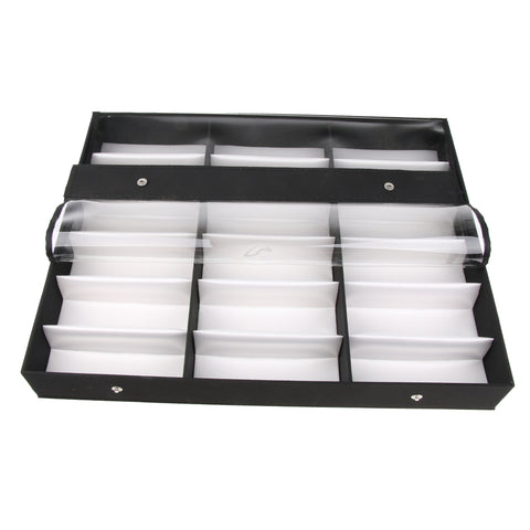 Image of 18 Slots Sunglasses Organizer Multiple Eyeglasses Eyewear Display Collection Case Glasses Storage Holder Box