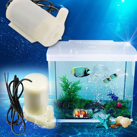 DC3V Micro Submersible Water Pump Low Noise Motor Pump for Small Fountains Home Decoration 120L/H
