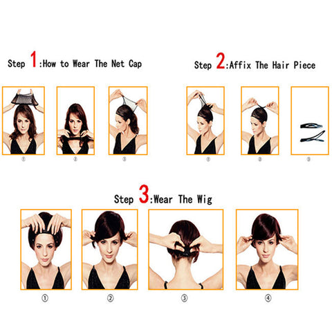 11 inch Women Short Brown Wig, 100% Human Hair Full Wig Hairpieces Heat Resistant, Lady Cosplay Party Costume Daily Wear Wig