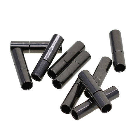 Image of 10 Set 3mm Glue In Bayonet Push Tube Clasp Leather Cord End Kumihimo Connector Jewelry Making Findings