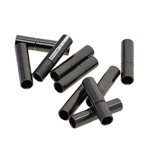 10 Set 3mm Glue In Bayonet Push Tube Clasp Leather Cord End Kumihimo Connector Jewelry Making Findings