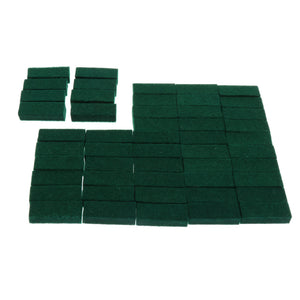 50 Pieces Upright Piano Damper Felt Set Keyboard Instrument Parts for Piano Green 1.10x0.39x0.28inch
