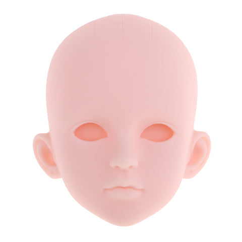 Image of 1/4 BJD Female Doll Head Sculpt without Eyes DIY Parts High Quality Plastic
