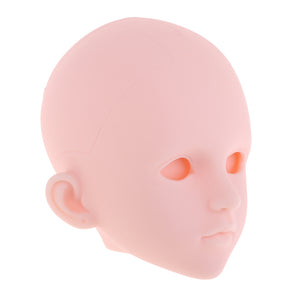 1/4 BJD Female Doll Head Sculpt without Eyes DIY Parts High Quality Plastic