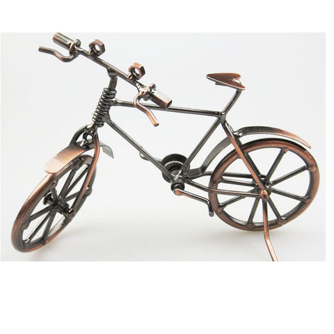 Image of 7 Inch Metalwork Iron Vintage Replica Bicycle Model Toy Craft Home Decoration Ornament