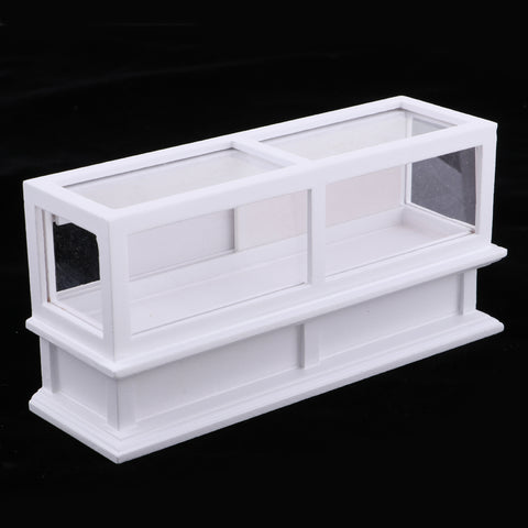 Image of Handmade 1/12 Dollhouse Miniature Wood Display Cabinet Showcase Shopping Mall Scenes Decoration Accessory