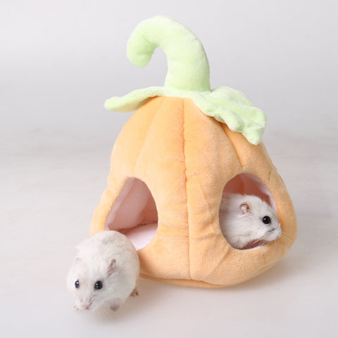 Image of Lovely Warm Small Cats Dogs Pet Nest Hamster Bed Hammock Pumpkin Patch Shape