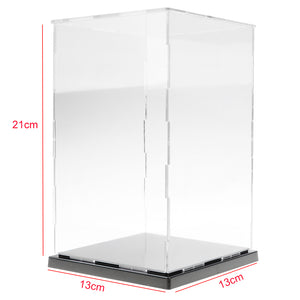 13x13x21cm Clear Model Display Box Figures Protection Show Case Home Decor