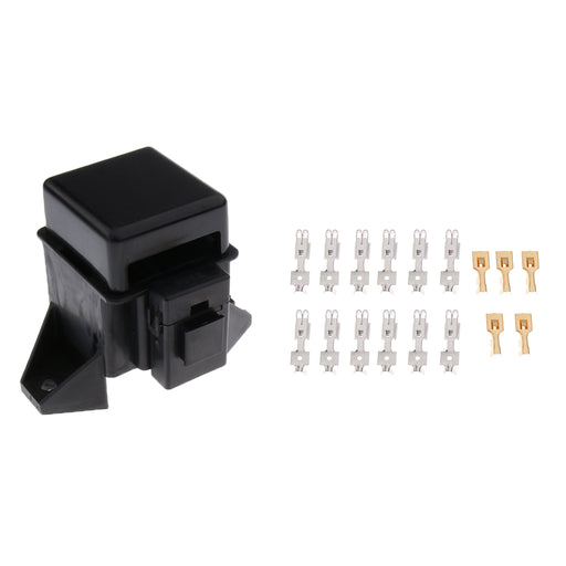 Automotive Car Boat 6 Way Middle ATO ATC Blade Fuse Box Block with Terminals