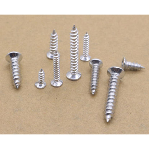 Image of 250g/Box M3 M4 M5 Cross Flat Head Self-Tapping Screw Self-Drilling Screws Fastener Assortment Hardware Kit