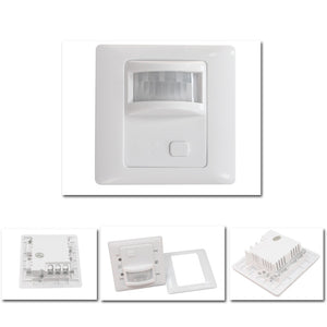 360° LED Infrared PIR Motion Sensor Detector Air Exhaust Fan Controller Light Lamp Switch 8m for Corridor Toilet Basement